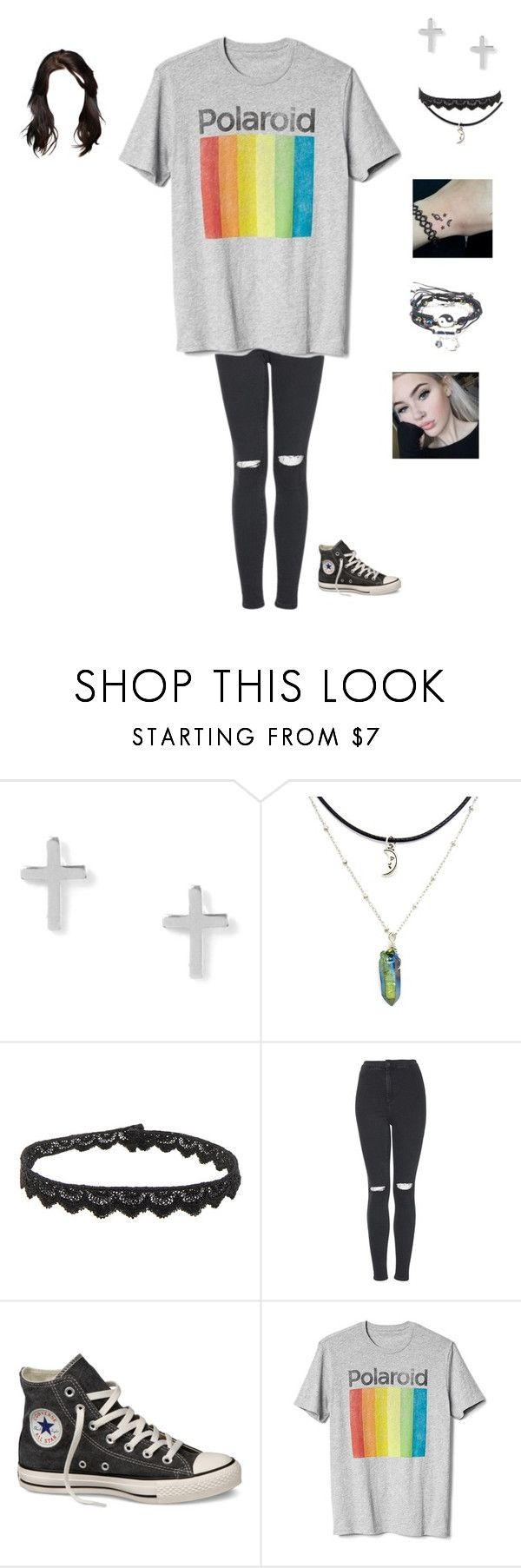 """Untitled #122"" by tori-is-trash ❤ liked on Polyvore featuring Yves Saint Laurent, Topshop, Converse, Gap and Hot Topic"