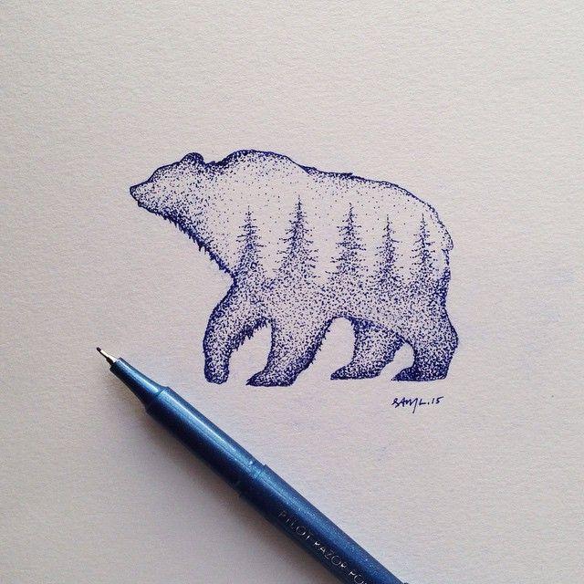 steelbison:#bear #illustration