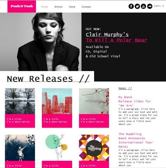 Record Label Website Template. recording studio website templates ...