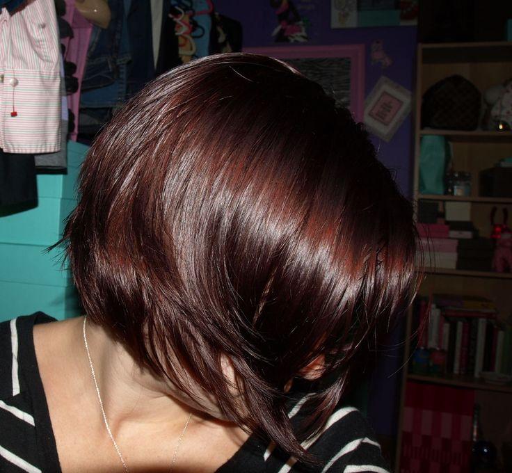 images of dark red brown hair | Dark brown to purple hair? - PurseForum