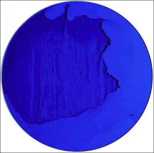 Manuel Merida, Cercle bleu Outremer, Galerie Zafra lilianezafrani@yahoo.fr I would die