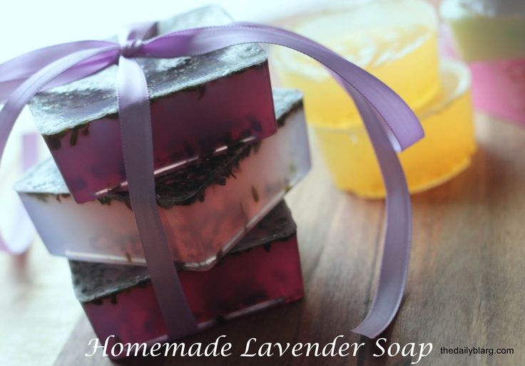 I made some simple homemade lavender soap.  Perfect for gifts, family, friends, or most importantly... Yourself.