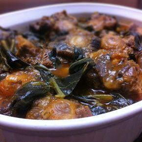 Braised Oxtail Collard Greens Stew