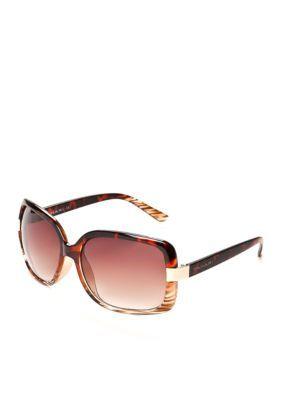 Tahari  Ombre Rectangle Sunglasses