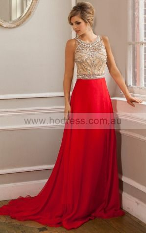 Chiffon Scoop Dropped A-line Floor-length Evening Dresses aaaa1001--Hodress