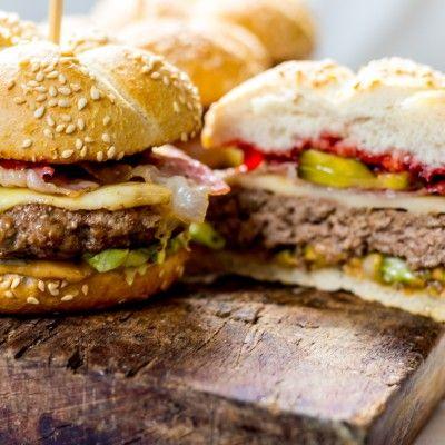 peanut butter & jelly burgers