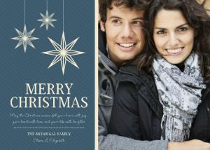 Mixbook Hanging Stars Christmas Cards