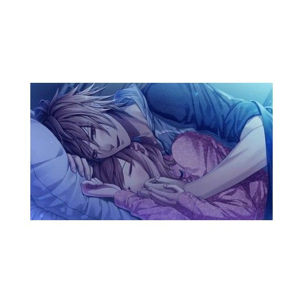 Anime Couple Sleeping ❤ liked on Polyvore featuring anime