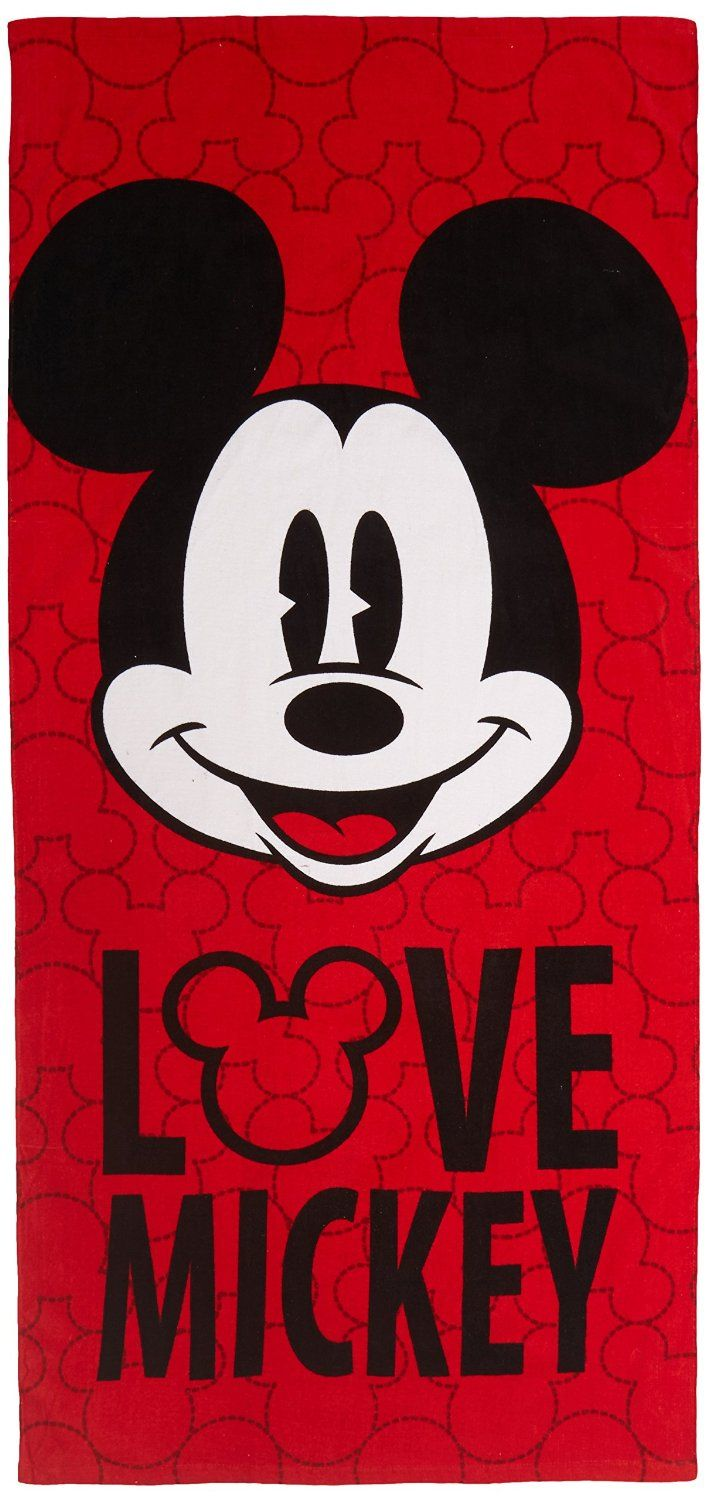 Amazon.com - Disney MICKEY Mouse 100-Percent Cotton Beach Towel, Red -