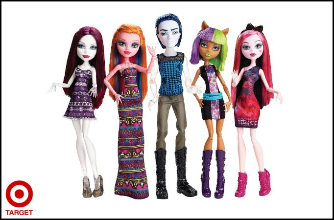 Monster High Maul Monsteristas 5 Pack Spectra Vondergeist, Gigi Grant, Invisi Billy, Clawdeen Wolf, & Draculaura