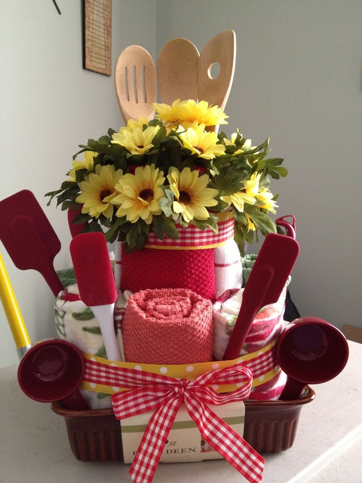 Kitchen towel cake for bridal shower