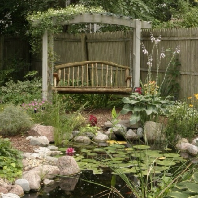 362 best images about flowers flower beds garden ponds for Pond shade ideas