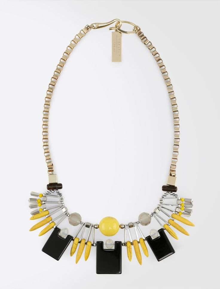 MaxMara WeekEnd GILBERT yellow: Necklace with geometrical elements Product page