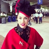 Alana wears Trish Bellero and Millinery by Tegan Chrisafulli. We dressed Alana for Ladies Day at Rosehill Gardens- She enteres Fashions on the Field