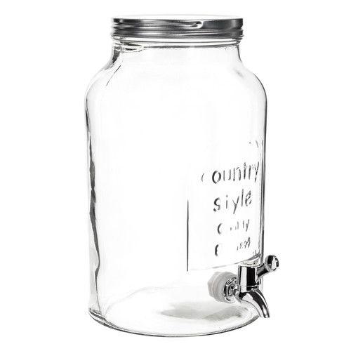 Bonbonne avec robinet en verre H 30 cm