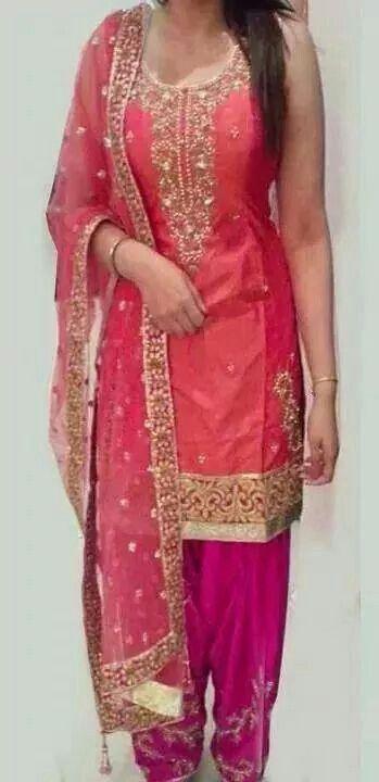 Pink grey suit- get the beautiful suit made @nivetas Design Studio https://www.facebook.com/punjabisboutique #patiala #salwar #suit