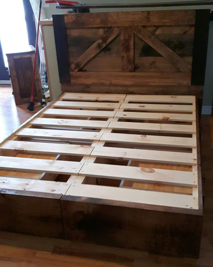 Reclaimed Wood Platform Bed With Drawers In The Base · Platform Bed With  DrawersWood Platform BedCountry RoadsSolid Wood Furniture