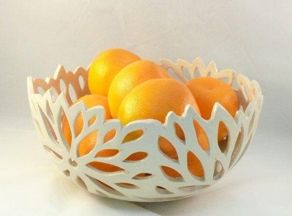 Lotus Flower Ceramic Cut Out Bowl,  Incised Fruit Bowl, Art Vessel, Art Object, Collectible Artwork, Colander, Office Decor, Candleholder