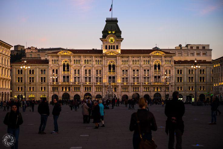 The Municipal Building in Piazza Unità d'Italia in Trieste