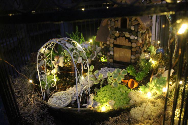 Lit With Solar Lights. Fairy GardeningFairies ...