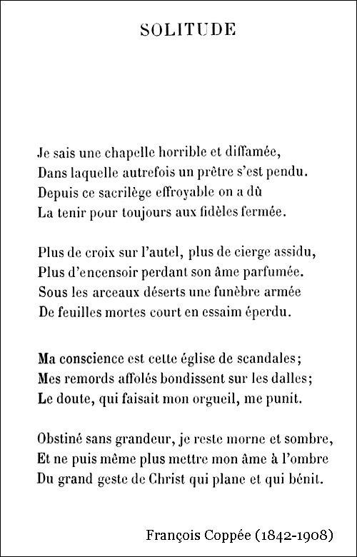 François Coppée – Solitude