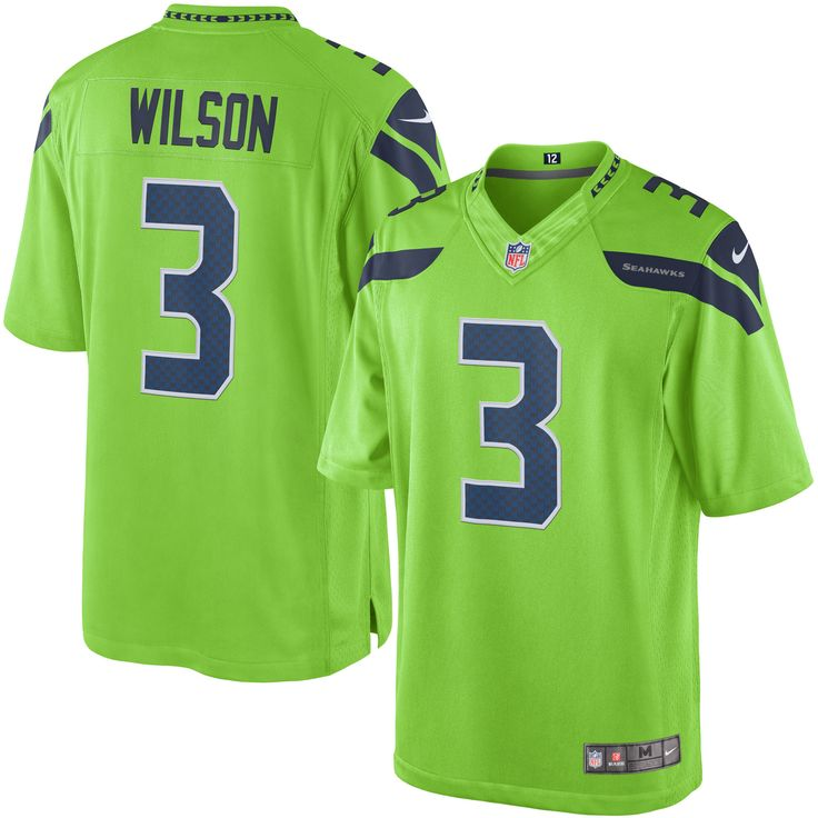 Men's Nike Russell Wilson Green Seattle Seahawks Color Rush Limited Jersey