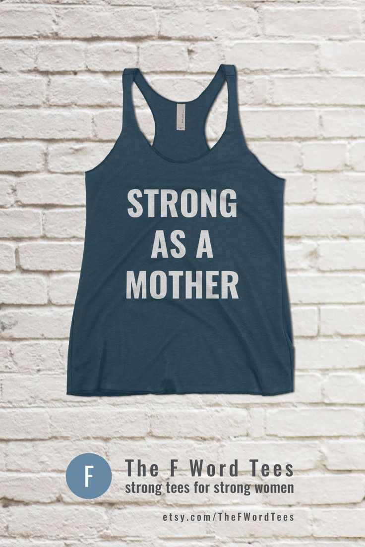 STRONG AS A MOTHER | Women's Workout Tank #crossfit #gymwear #tanktop #girlswholift #fitmom