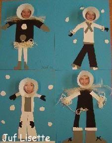 tipsvoordeklas@tipsvoordeklas     Tip #308: knutsel een eskimo/Inuit met een papieren muffin vormpje + een foto van de leerling