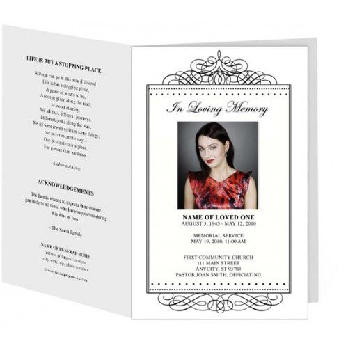 11 best Funeral Program Templates images on Pinterest Templates - memorial service invitation template