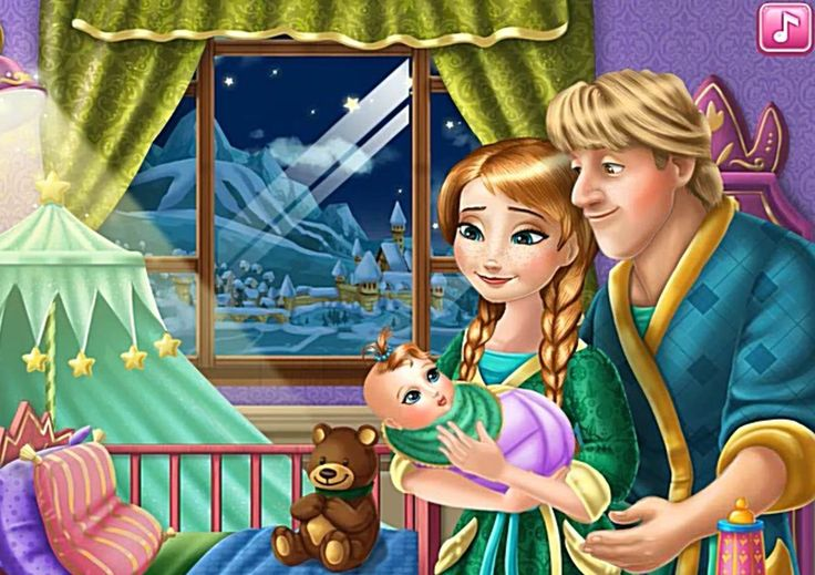 Frozen Princess Anna and Kristoff  With Babies Принцесса Анна и Кристофф...