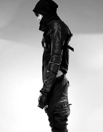   B L V C K   Menswear * Street Goth Ninja Fashion