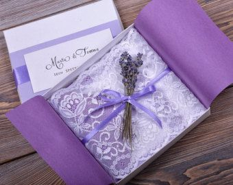 Wedding Invitation With Lavender And Lace