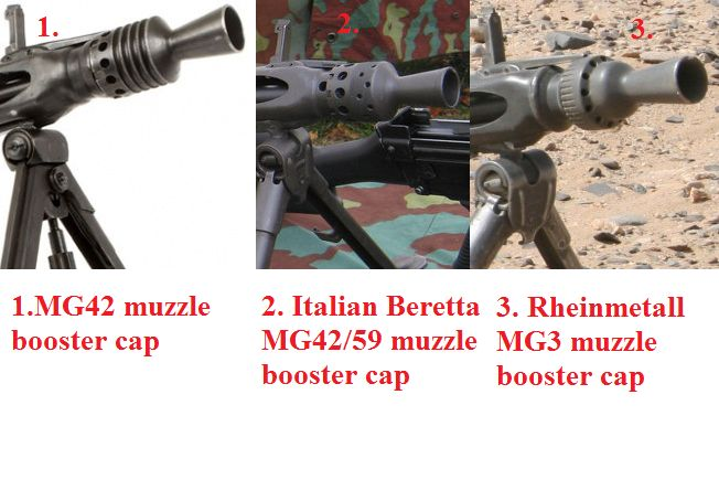 One Way Differentiate Different Versions Of The Mg42 Machine Gun Is
