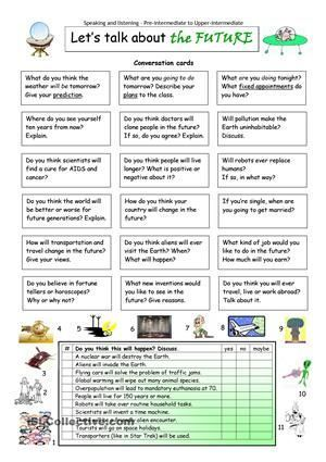 This worksheet contains 18 conversation cards and an interview box with matching exercise. The cards can be cut out if desired and be used as conversation questions. Can be used with both young learners and adults (pre-intermediate to upper-intermediate). - ESL worksheets