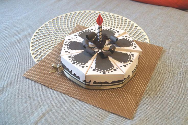 упаковка для подарка - бумажный торт