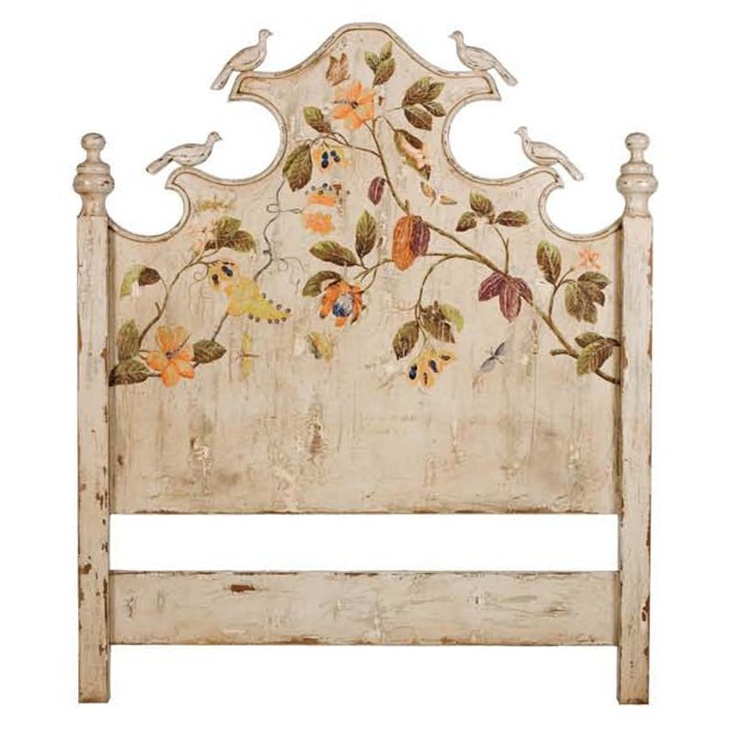 Garden Cottage Painted Headboard English Country