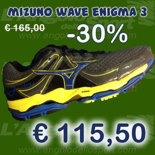 #Mizuno Wave Enigma 3  Tecnologia Dymamotion Fit in Air Mesh con rinforzi in pelle sintetica. Plantare anatomico Premium estraibile. Tecnologia ammortizzante e stabilizzante Wave in Pebax più VS-1 in zona tallonare. Adatta ad atleti di peso medio alto per avere massimo comfort e protezione. Da €165 sconto -30% a SOLO €115,50!  http://buff.ly/1fiN3f6  #running #correre