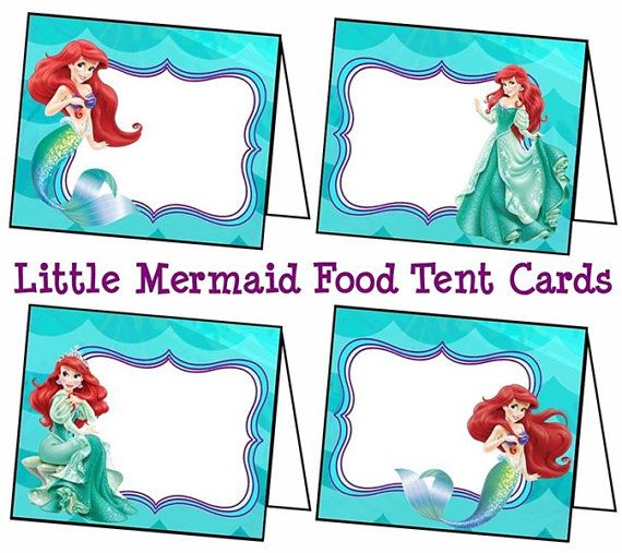 Disney Little Mermaid Food Labels Little Mermaid by ColtelloDesign