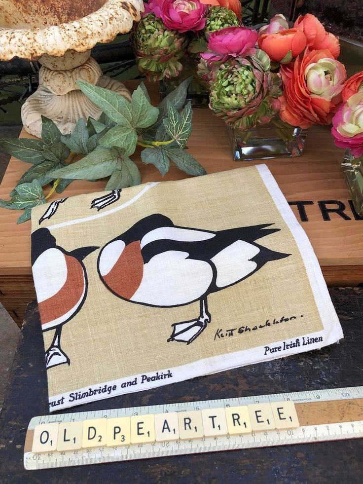 Vintage Keith Shackleton Slimbridge Wildfoul Ducks Birds Print Linen Tea Towel    eBay