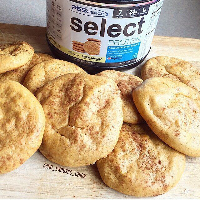 Snickerdoodle protein cookies (cinnamon bun protein powder or snickerdoodle protein powder, sweet potato, almond butter or cookie butter, egg whites) | instagram