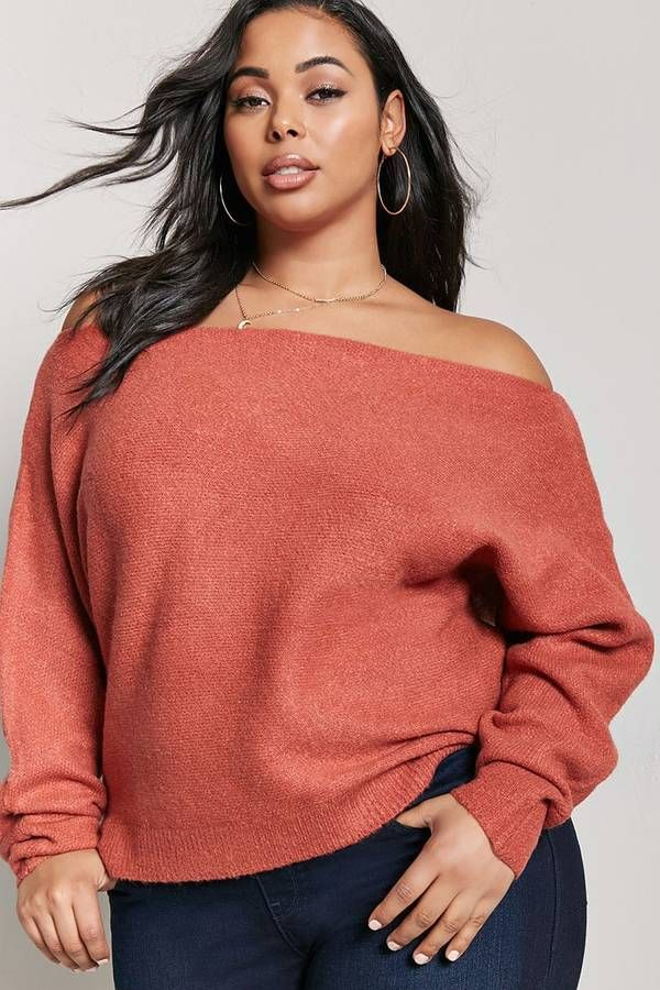 ae11c9b04ed2e FOREVER 21+ Plus Size Off-the-Shoulder Sweater  plussize  fashionaddict   trends  fashion  trendsetter  affilatelink