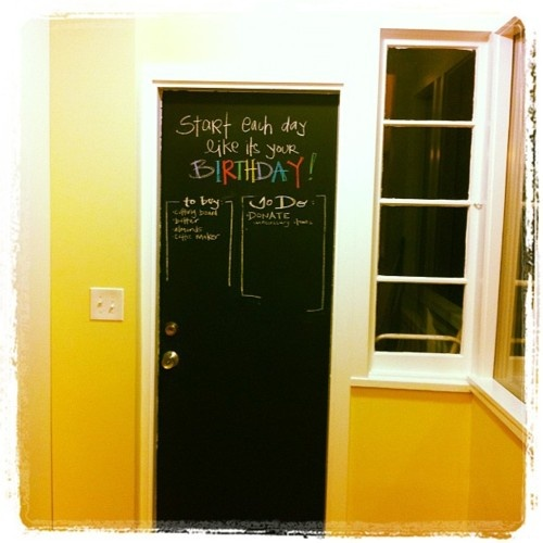 new door in our house! #chalkboard #quotes @Veronica Moody - stole it from your pinboard!: Lovely Things, Veronica Moody, Chalkboard Quotes, Sartori Moody, Quotes Veronica