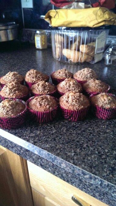 Golden graham muffins