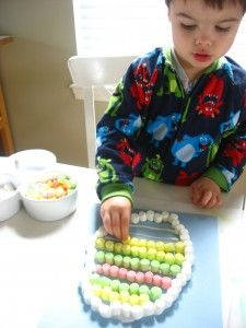 Marshmallow Easter Egg - No Time For Flash Cards