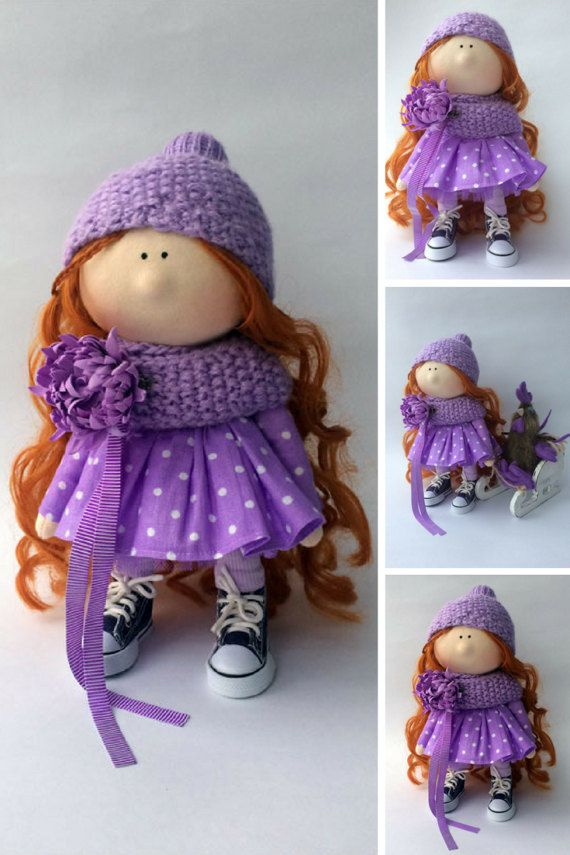 Rag doll Muñecas Soft doll Bambole Puppen by AnnKirillartPlace