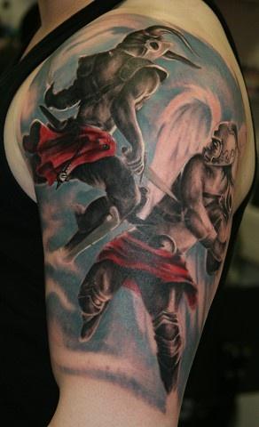 fight between an angel & a devil: Skin Art, Couple Tattoo, Digital Art, Art Prints, Angel Tattoo, Tattoo Design, Remistattoo Deviantart, Remy Tattoo, Deviantart Galleries