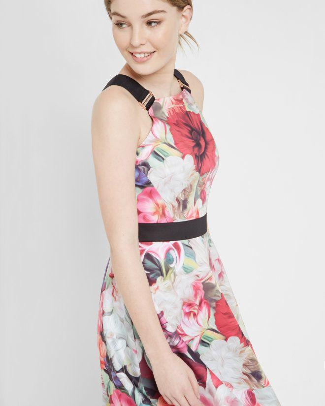 Floral Swirl skater dress - Fuchsia | Dresses | Ted Baker UK