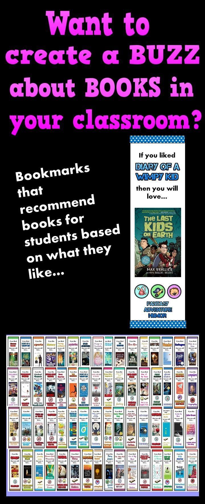 Book Buzz Bookmarks Ellesl With Wild Child Designs Pinterest