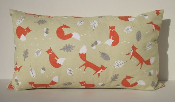 Mr Fox Fabric cushion cover in 100% printed cotton by SewSueHome