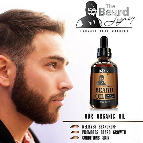 Beard Growth Oil ALL Natural growing Promote Softens Facial Hair & Stops Itching #TheBeardLegacy